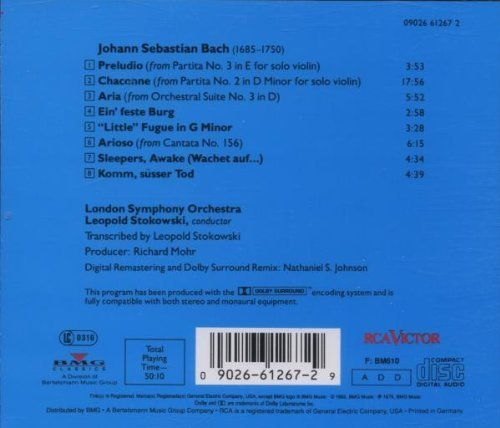 Bild 2: Bach, Transcribed by Leopold Stokowski (RCA, 1975/92) (LSO/Stokowski)