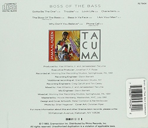 Bild 2: Jamaaladeen Tacuma, Boss of the bass (1993, US/CAN)