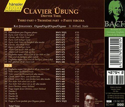 Bild 2: Bach, Clavier-Übung 3. Teil (Hänssler, 1999) Kay Johannsen