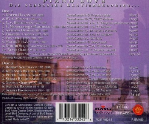 Bild 2: Piano Love (RCA Victor/BMG, 1997), Haydn, Mozart, Beethoven, Dvorak, Chopin.. Alicia de Larrocha, Gerhard Oppitz, Barry Douglas..