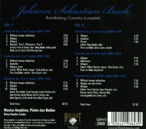 Bild 1: Bach, Brandenburg concertos-Complete (Brilliant, 2006) Musica Amphion/Baudet, Pieter-Jan Belder