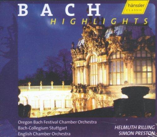 Bild 1: Bach, Highlights (Hänssler, 1995) Bach-Collegium Stuttgart, English Chamber Orch., Thomas Indermühle..