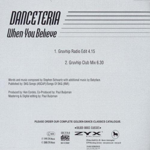Bild 2: Danceteria, When you believe-The Dance Version (#zyx/gdc2176)