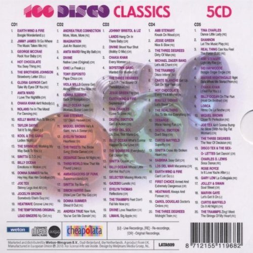 Image 2: 100 Disco Classics (2010), Earth Wind & Fire, Jimmy James, George McCrae, Hot Chocolate, Brothers Johnson, Anita Ward..