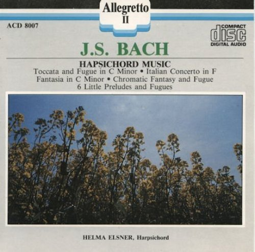 Bild 1: Bach, Hapsichord music, BWV 903, 971, 906, 911, 933-38 (Allegretto, 1988, US) Helma Elsner