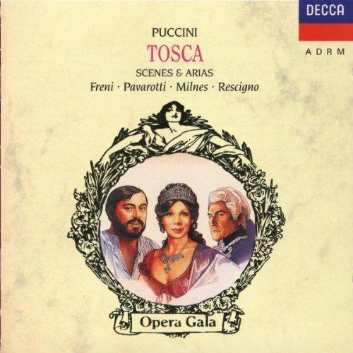 Bild 1: Puccini, Tosca-Scenes & arias (Decca, 1981/92) National Philharmonic Orch./Rescigno, Mirella Freni, Luciano Pavarotti, Sherrill Milnes..