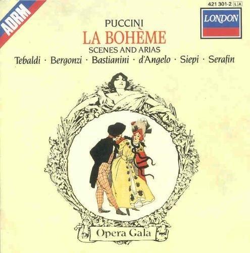 Bild 1: Puccini, La bohème-Scenes and arias (Decca, 1960/88) Orch. e Coro dell'Accademia di Santa Cecilia, Roma/Serafin, Renata Tebaldi, Carlo Bergonzi..