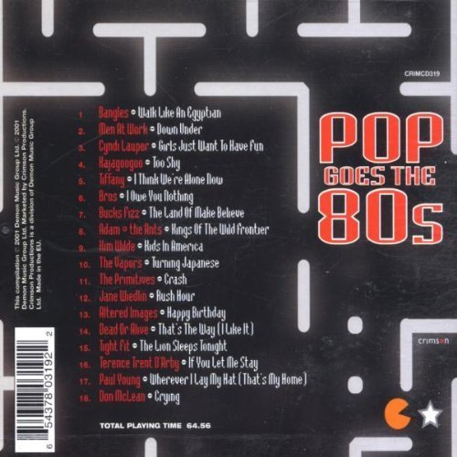 Bild 2: Pop goes the 80s (2001, Demon), Bangles, Men At Work, Cyndi Lauper, Kajagoogoo, Tiffany, Bros, Jane Wiedlin..