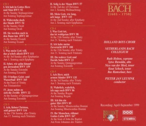 Bild 2: Bach, Edition 05: Cantatas II (Brilliant) Netherlands Bach Collegium/Leusink, Holland Boys Choir, Ruth Holton..