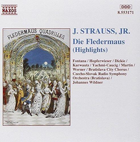Bild 1: Strauss, Johann (Sohn), Die Fledermaus-Highlights (Naxos, 1994) Czecho-Slovak RSO, Bratislava/Wildner..