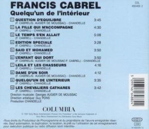Bild 2: Francis Cabrel, Quelgu' un de l'intérieur (1983)