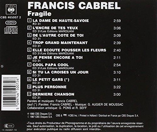 Bild 2: Francis Cabrel, Fragile (1980)