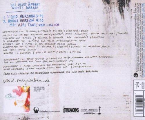 Bild 2: Maya Saban, Das alles ändert nichts daran (2005; 2 tracks, & Cosmo Klein)