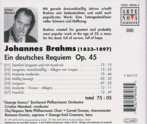 Bild 2: Brahms, Ein deutsches Requiem, op. 45 (Arte Nova, 1997) 'George Enescu' Bucharest PO/Mandeal..