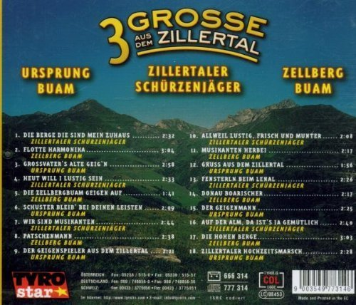 Bild 2: Ursprung Buam, 3 Grosse aus dem Zillertal (& Zillertaler Schürzenjäger, Zellberg Buam)