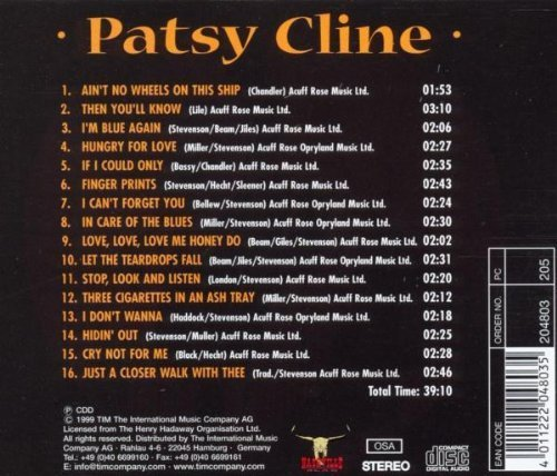 Bild 2: Patsy Cline, Ain't no wheels on this ship (compilation, 1999)