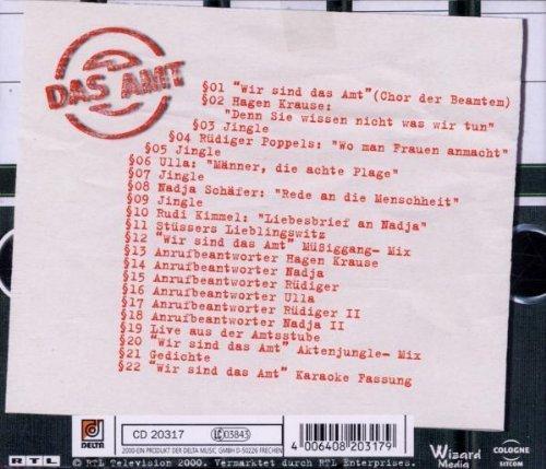 Bild 2: Das Amt (2000, RTL), Die amtliche Comedy-CD zur Serie