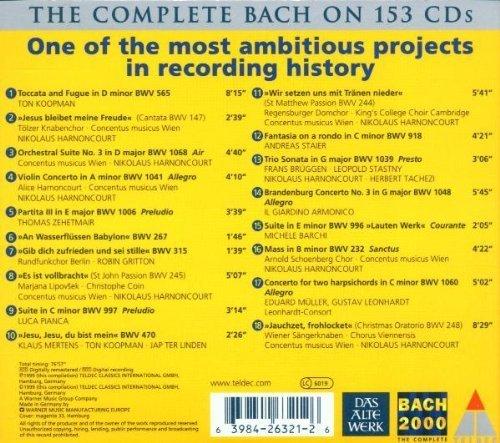 Bild 2: Bach, Bach 2000 sampler (Teldec) Ton Koopman, Nikolaus Harnoncourt, Thomas Zehetmair..