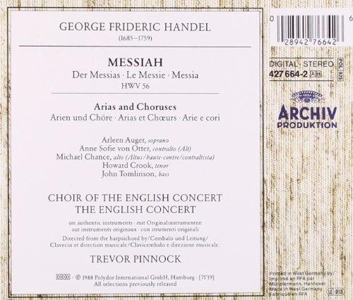 Bild 2: Handel, Messiah-Arias & Choruses ('Archiv') English Concert & Choir/Pinnock