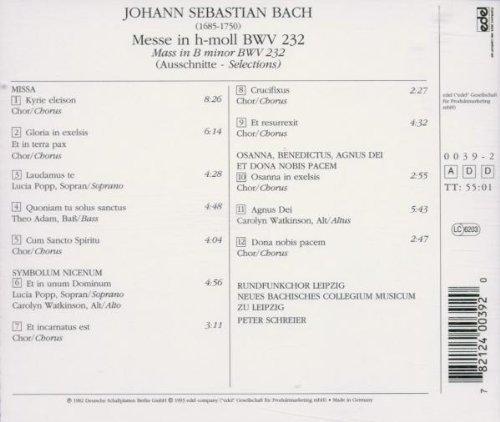 Bild 2: Bach, Messe in h-moll, BWV 232 (Edel, 1982) Neues Bachisches Collegium Musicum zu Leipzig/Schreier, Lucia Popp, Theo Adam..