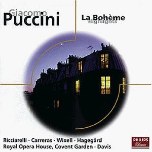 Image 1: Puccini, La bohème-Highlights (Philips, 1979) Chorus & Orch. of the Royal Opera House, Covent Garden/Davis, Katia Ricciarelli, José Carreras..