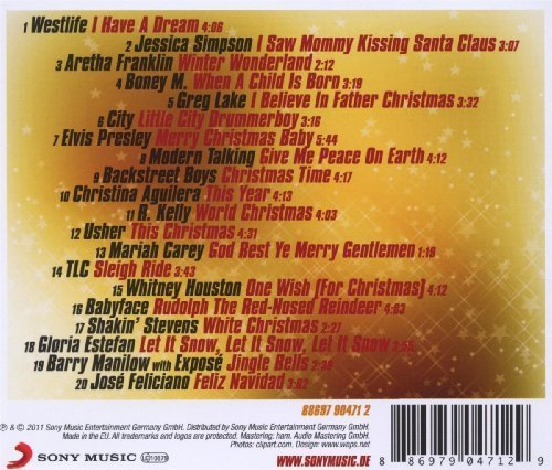 Фото 2: 100% Christmas (2011, Sony), Westlife, Jessica Simpson, Aretha Franklin, Boney M., Greg Lake, City..