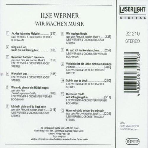 Bild 2: Ilse Werner, Wir machen Musik (12 tracks, 2002)