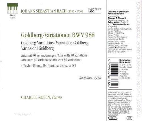 Bild 2: Bach, Goldberg variations, BWV 988 (Sony) Charles Rosen