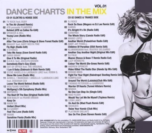 Bild 2: Dance Charts in the Mix 1 (2009, MORE), TV Rock feat. Rudy, ATB pres, Flanders, Spencer & Hill, R.I.O., 4 Strings, Mark'Oh..