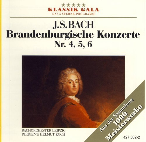 Bild 1: Bach, Brandenburgische Konzerte Nr. 4, 5, 6 (Karussell, 1966) Bachorch. des Gewandhausorchesters Leipzig/Koch