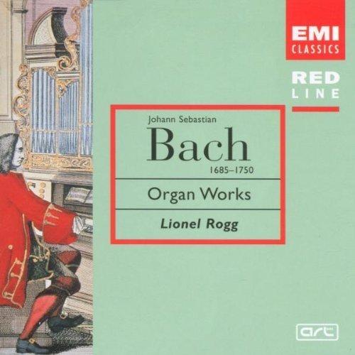 Bild 1: Bach, Organ works (EMI Red Line, 1976) Lionel Rogg