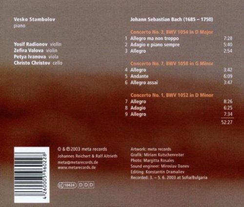 Bild 2: Bach, Piano concertos Nos. 1, 3 & 7 (Meta) Veska Stambolov, Yosif Radionov, Zefira Valova..