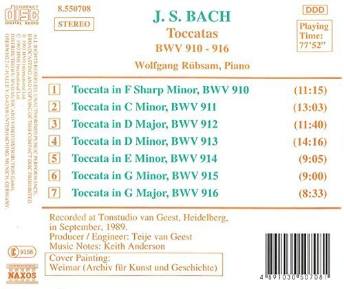 Bild 2: Bach, Toccaten, BWV 910-916 (1989) Wolfgang Rübsam