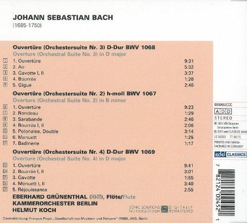 Bild 2: Bach, Ouvertüren Nr. 3, 2, 4, BWV 1068, 1067, 1069 (Edel, 1974) Kammerorch. Berlin/Koch