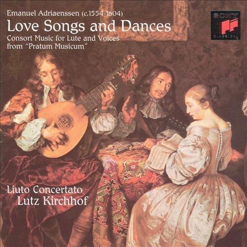 Bild 1: Adriaenssen, Emanuel, Love songs and dances-Consort music for lute and voices from 'Pratum musicum' (Sony, 1995) Liuto Conertato/Kirchhof, Marie-Claude Vallin..