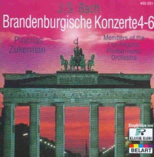 Bild 1: Bach, Brandenburgische Konzerte Nr. 4-6 (Belart, 1977) Members of the Los Angeles PO/Zukerman