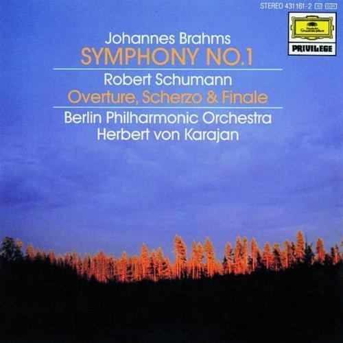 Bild 1: Brahms, Symphonie Nr. 1, op. 68/Schumann: Ouvertüre, Scherzo und Finale, op. 52 (DG, 1964/72) Berliner Philharmoniker/Karajan