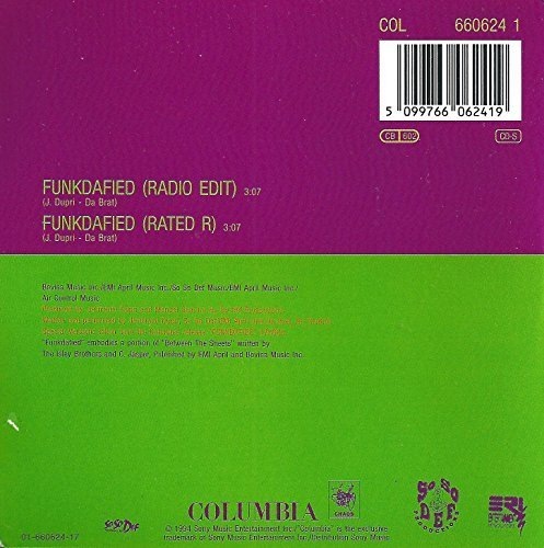 Bild 2: Da Brat, Funkdafied (1994; 2 versions, cardsleeve)