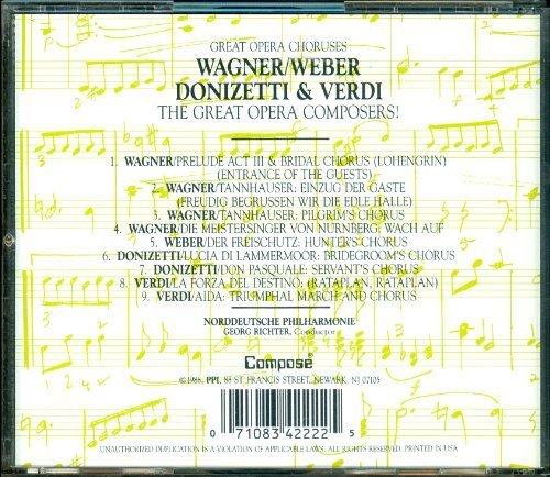 Image 2: Great Opera Choruses (Compose, 1988), Wagner, Weber, Donizetti, Verdi Norddeutsche Philharmonie/Richter