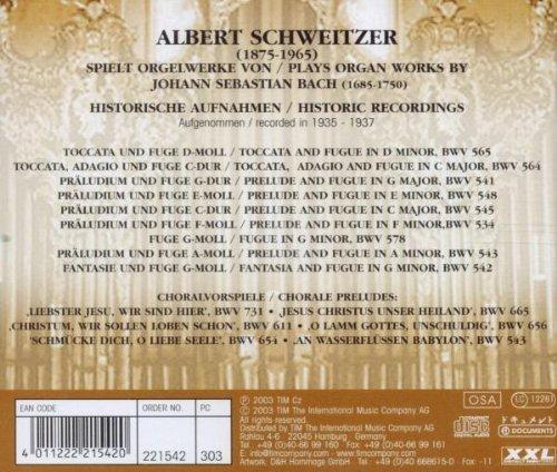 Bild 2: Bach, Orgelwerke (Documents, 1935-37) Albert Schweitzer
