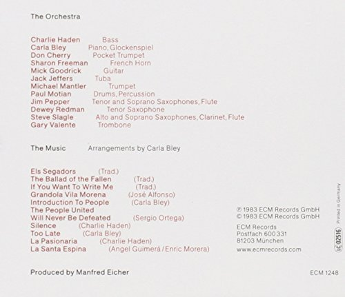 Bild 2: Charlie Haden, Ballad of the fallen (1983, & Carla Bley, Don Cherry..)