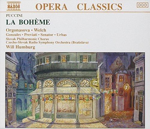 Bild 1: Puccini, La bohème (Naxos, 1990) Czech-Slovak RSO (Bratislava)/Humburg, Luba Orgonasova, Jonathan Welch..