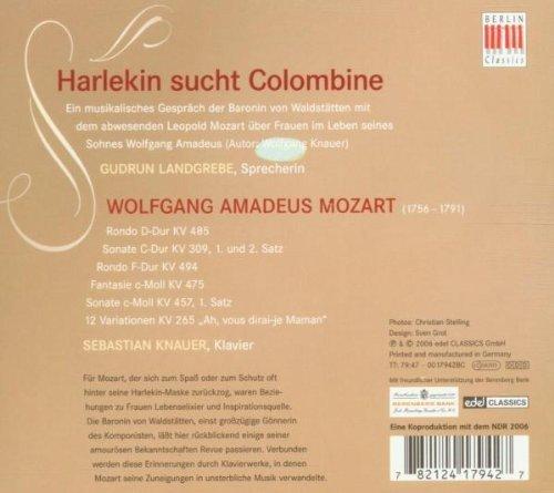 Bild 2: Mozart, Harlekin sucht Colombine-Mozart und die Frauen (Berlin Classics, 2006) Gudrun Landgrebe, Sebastian Knauer