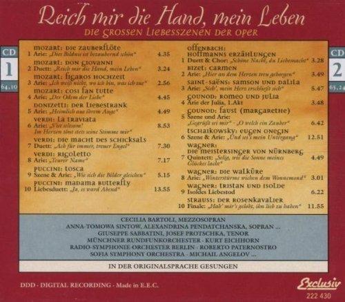 Bild 2: Reich mir die Hand, mein Leben, Die grossen Liebesszenen der Oper Cecilia Bartoli, Anna-Tomowa Sintow, Alexandrina Pendatchanska, Giuseppe Sabbatini..