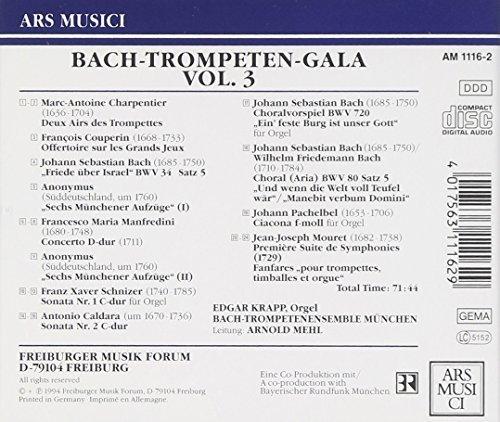 Bild 2: Bach, Trompeten-Gala 3 (Ars Musici, 1994) Bach-Trompetenensemble München/Mehl, Edgar Krapp