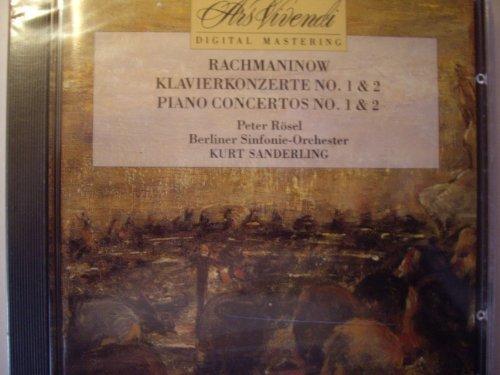 Bild 1: Rachmaninoff, Klavierkonzert Nr. 1, op. 1/Nr. 2, op. 18 (Ars Vivendi, 1989) Berliner SO/Sanderling, Peter Rösel