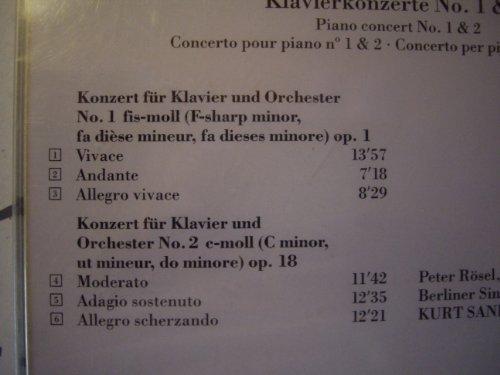 Bild 2: Rachmaninoff, Klavierkonzert Nr. 1, op. 1/Nr. 2, op. 18 (Ars Vivendi, 1989) Berliner SO/Sanderling, Peter Rösel