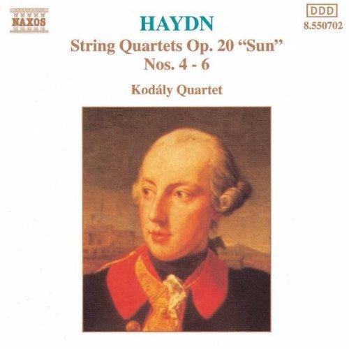 Bild 1: Haydn, String quartets, op. 20 Nos. 4-6 (Naxos, 1992) Kodály Quartet