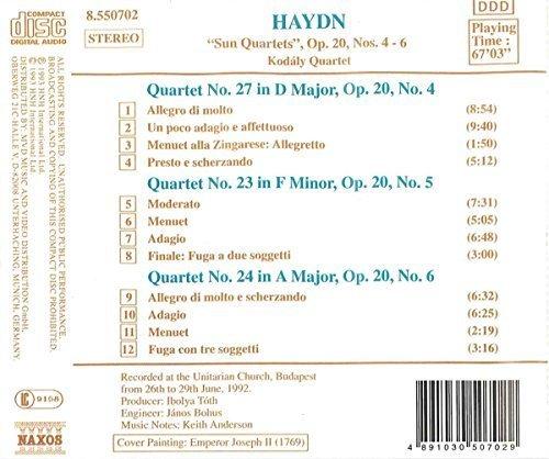 Bild 2: Haydn, String quartets, op. 20 Nos. 4-6 (Naxos, 1992) Kodály Quartet