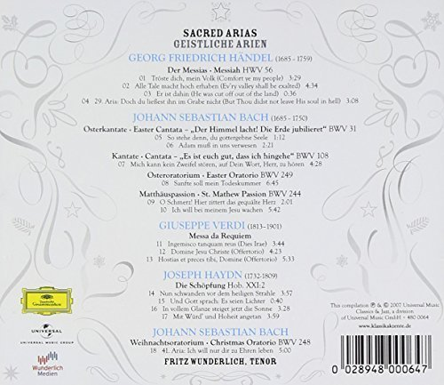 Bild 2: Fritz Wunderlich, Sacred arias (2007, DG)
